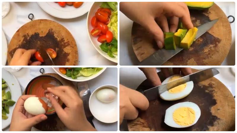 Cách làm làm món salad bơ với trứng