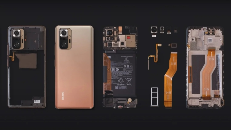 Mời bạn xem video tháo tung Xiaomi Redmi Note 10 Pro, để xem cách sắp xếp linh kiện bên trong thế nào, có thẩm mỹ như phần mặt tiền hay không