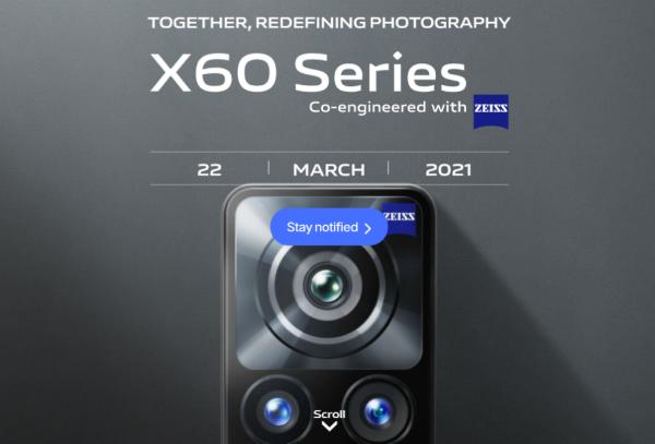 Vivo X60 series bản quốc tế dùng chip Snapdragon 870 được ấn định thời điểm ra mắt