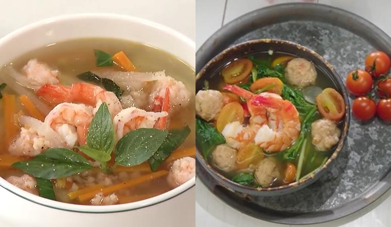 2 cách nấu canh tôm củ cải và canh tôm cần nước thơm ngon thanh mát