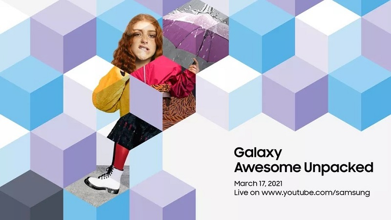 Samsung gửi thư mời sự kiện Galaxy Awesome Unpacked vào 17/3