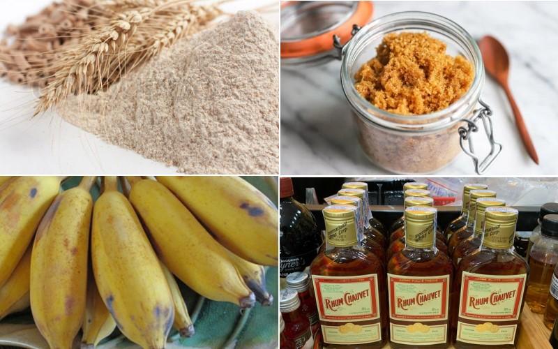 Nguyên liệu làm bánh mì nguyên cám chuối đường nâu