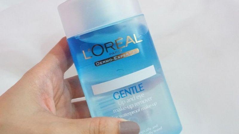 Nước tẩy trang L'oréal Gentle Lip and Eye Makeup Remover