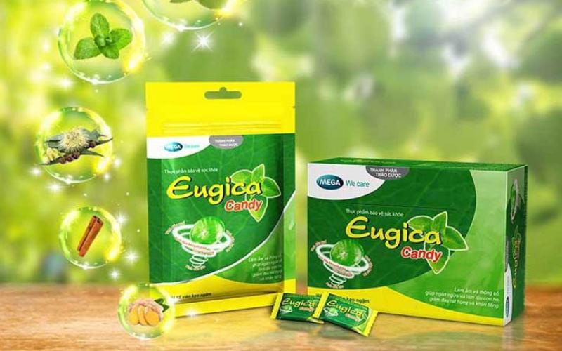Kẹo ngậm thảo dược giúp giảm ho, trị đau họng Eugica