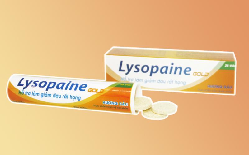 Lysopaine – Viêm ngậm điều trị bệnh viêm họng