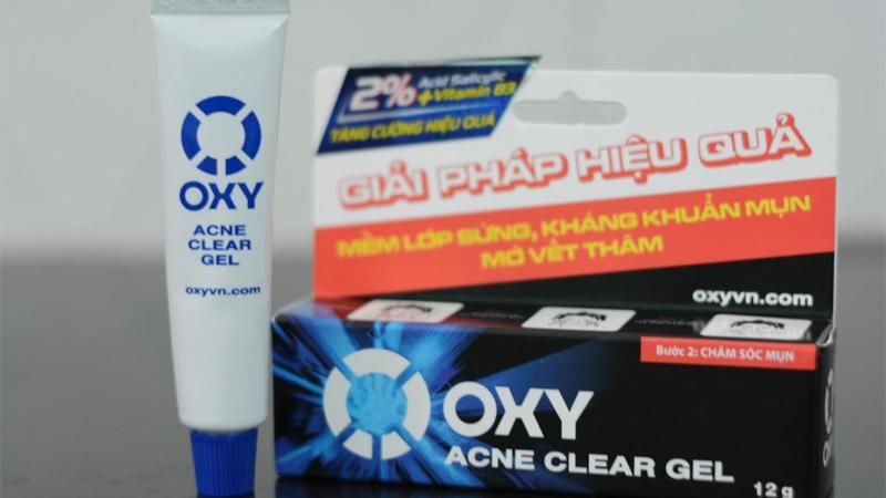 Kem trị mụn cho nam Oxy Acne Clear Gel