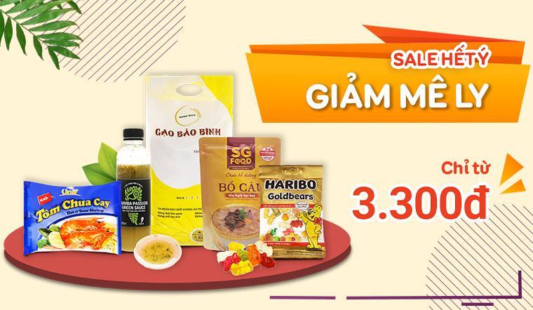 'Sale Hết Ý, Giảm Mê Ly' với nhiều sản phẩm giá chỉ từ 3.300 đồng
