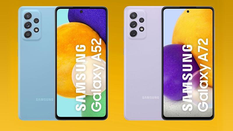 Galaxy A52 và Galaxy A72 lộ poster quảng cáo, đây là điểm khác nhau