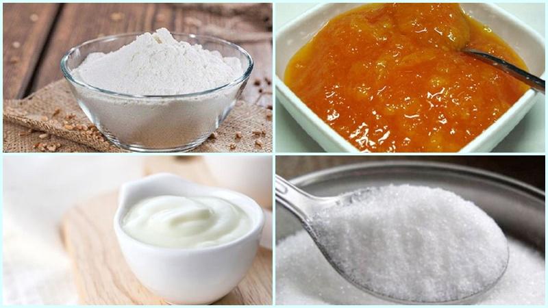 Nguyên liệu làm món bánh cam sữa