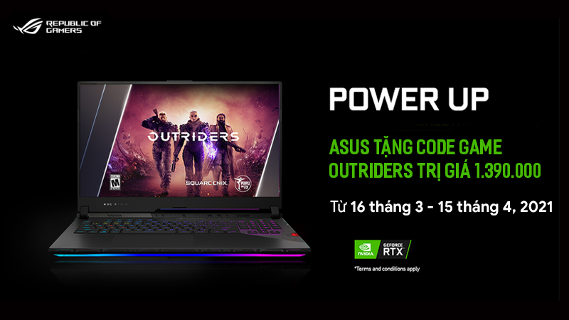 ASUS tặng code game Outriders
