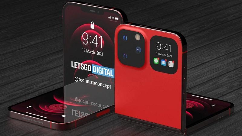 Mê mẩn trước mẫu ý tưởng iPhone 13 màn hình gập với notch tai thỏ nhỏ gọn, mặt sau có thêm màn hình thứ hai
