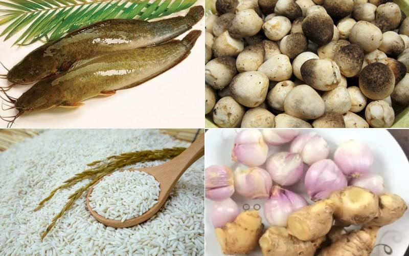 Nguyên liệu làm món cháo cá trê