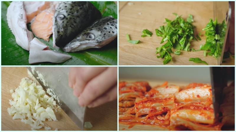 Cách nấu canh kim chi đầu cá hồi thơm ngon bổ dưỡng cho cả gia đình