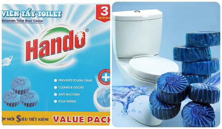 Viên vệ sinh bồn cầu Hando đánh bay vết bẩn, diệt sạch vi khuẩn tới 99%