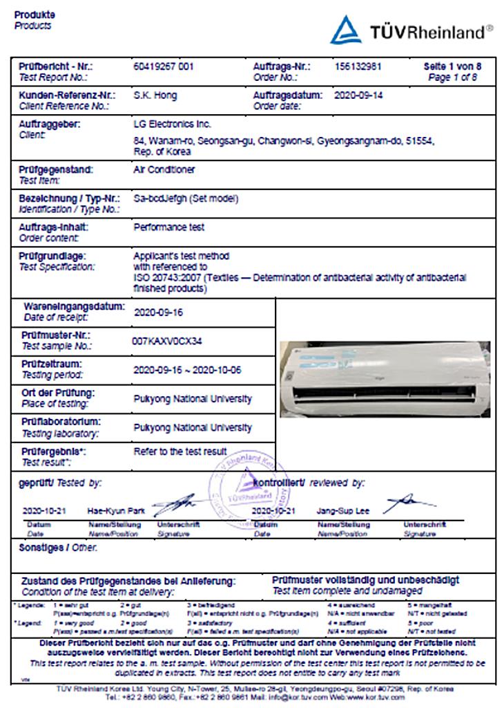 Công nghệ độc quyền UVnano trên máy lạnh LG