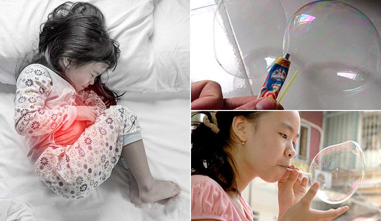 Trẻ bị ngộ độc do thổi keo bong bóng - chuyên gia cảnh báo đây là thứ độc hại vô cùng
