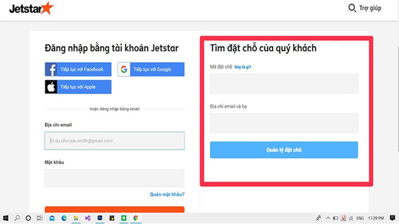 Cách kiểm tra mã code tại website Jetstar Pacific