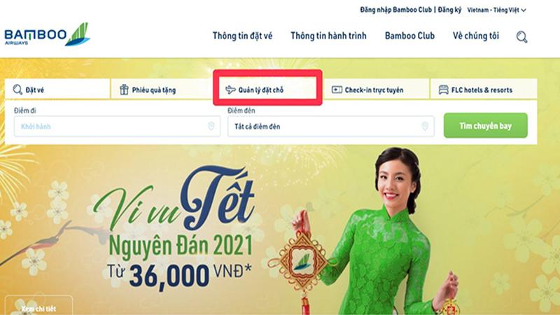 Cách kiểm tra mã code tại website Bamboo Airways