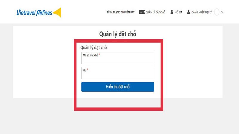 Hướng dẫn cách kiểm tra mã đặt chỗ (code) vé máy bay vietravel Airlines