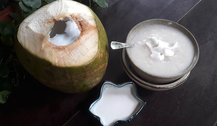 Cách nấu cháo quả dừa vừa lợi sữa mà cực thơm ngon, dễ ăn cho mẹ bỉm