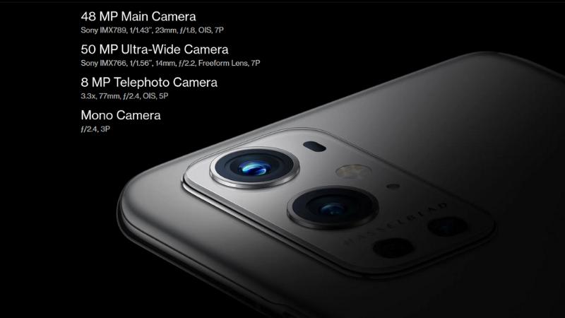 OnePlus 9 Pro sở hữu hệ thống 4 camera với những thông số cực kỳ ấn tượng. (Nguồn: OnePlus).