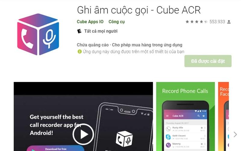 Ứng dụng Ghi âm cuộc gọi - Cube ACR