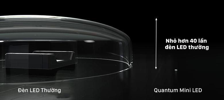Đèn nền mini LED và Quantum Matrix Pro giúp tăng mạnh độ tương phản