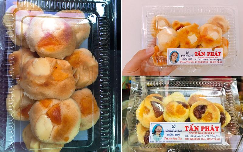 Bánh bông lan trứng muối Tấn Phát