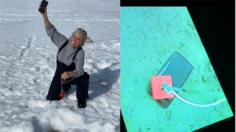iPhone 11 Pro vẫn sống phà phà sau cả tháng chìm dưới đáy hồ đóng băng