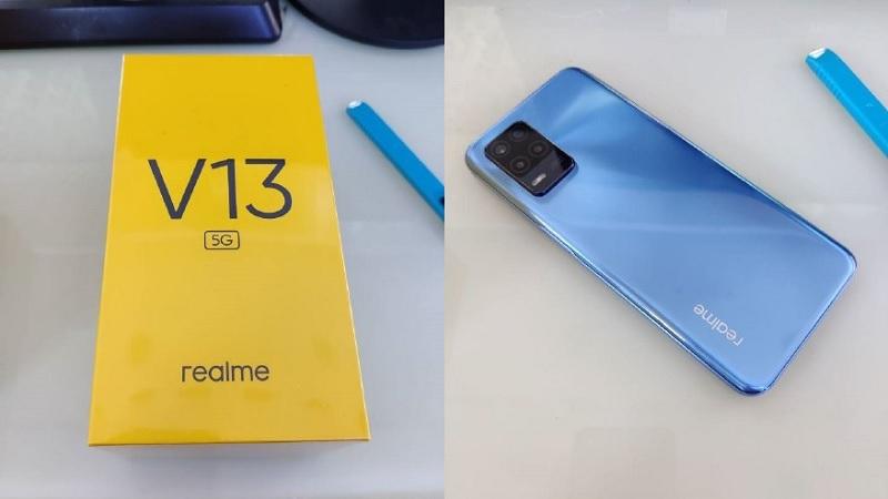 Realme V13 rò rỉ hình ảnh thực tế