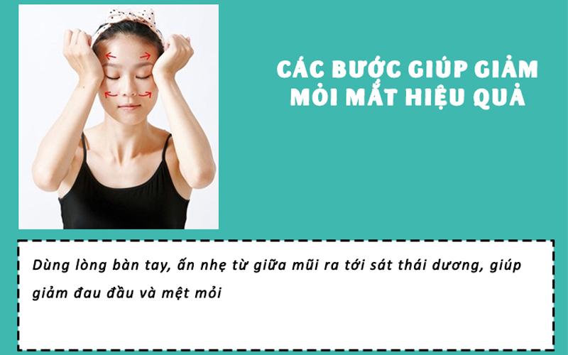 massage để giảm đau đầu và mệt mỏi