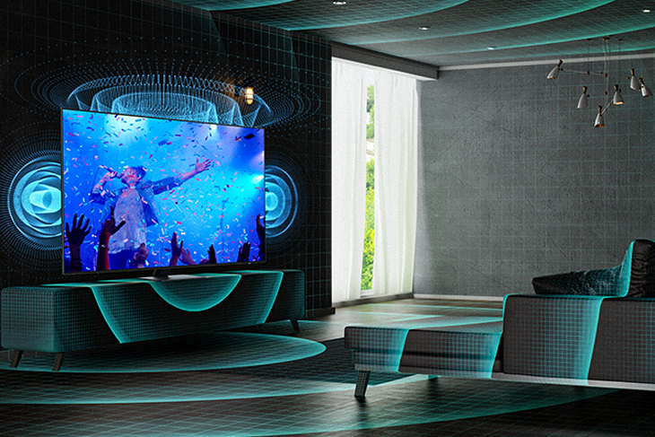 Tivi Samsung - SpaceFit Sound