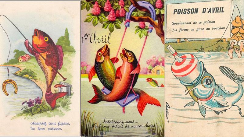 Hình ảnh cá trên bưu thiếp ở Pháp