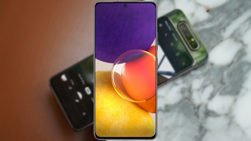 Galaxy A82 không còn dõi theo cơ chế trượt xoay như Galaxy A80