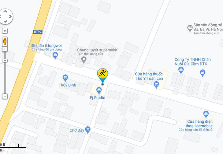 Bản đồ đến siêu thị Điện máy XANH tại Thôn Đan Thê, Xã Sơn Đà, Huyện Ba Vì, Hà Nội