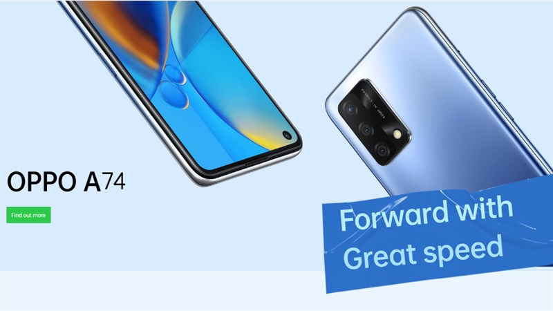 In terms of appearance, I see OPPO A74 4G has a design quite similar to the OPPO Reno 5 with design lines that look masculine and strong, combined with a gentle 3D curved back, shiny colors, eye-catching. to the user with sophistication and elegance.