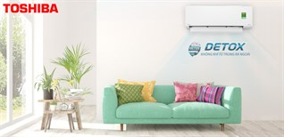 Detox không khí từ trong ra ngoài với máy lạnh RAS-H10E2KCVG-V của Toshiba