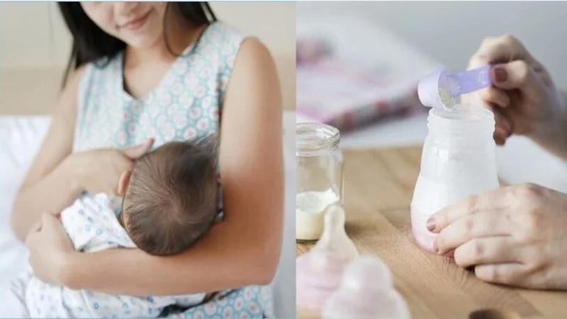 Lợi ích của việc cho con bú kết hợp sữa bột với sữa mẹ