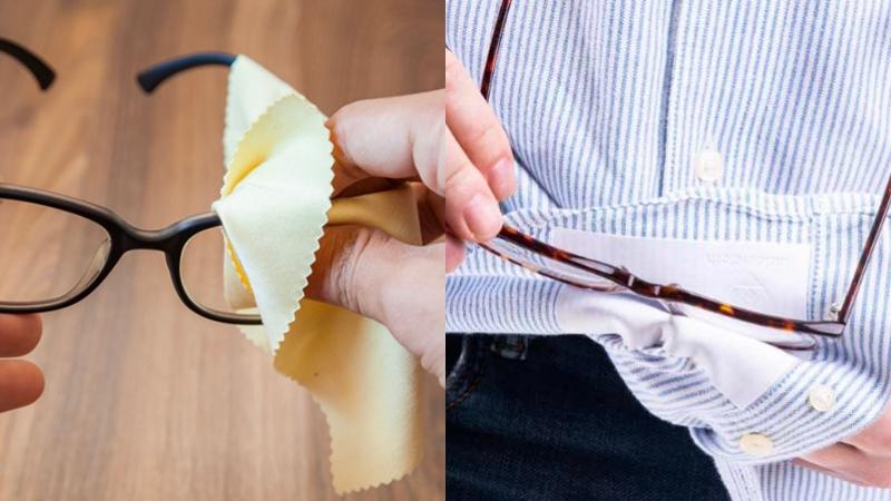 Thói quen dùng áo chùi mắt kính sẽ làm trầy xước