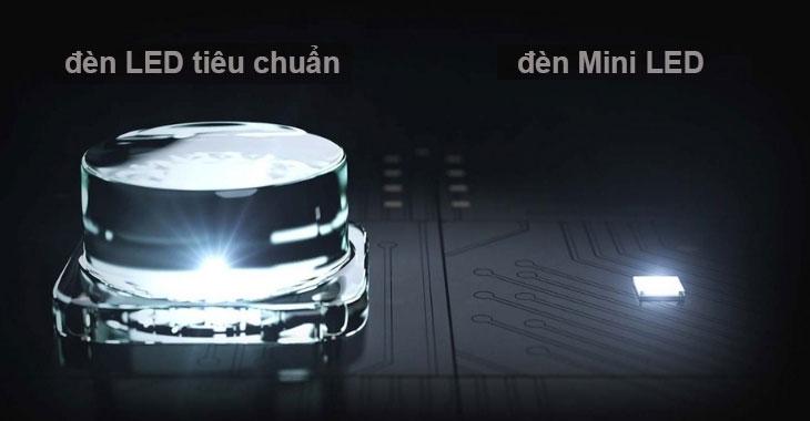Kích thước đèn mini LED so với đèn LED tiêu chuẩn
