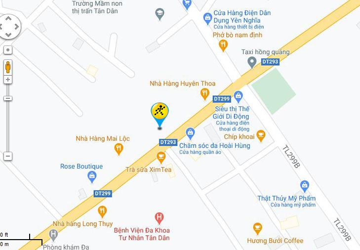 Bản đồ đến siêu thị Điện máy XANH tại Tổ dân phố Hương, Thị trấn Tân An, Huyện Yên Dũng, Tỉnh Bắc Giang