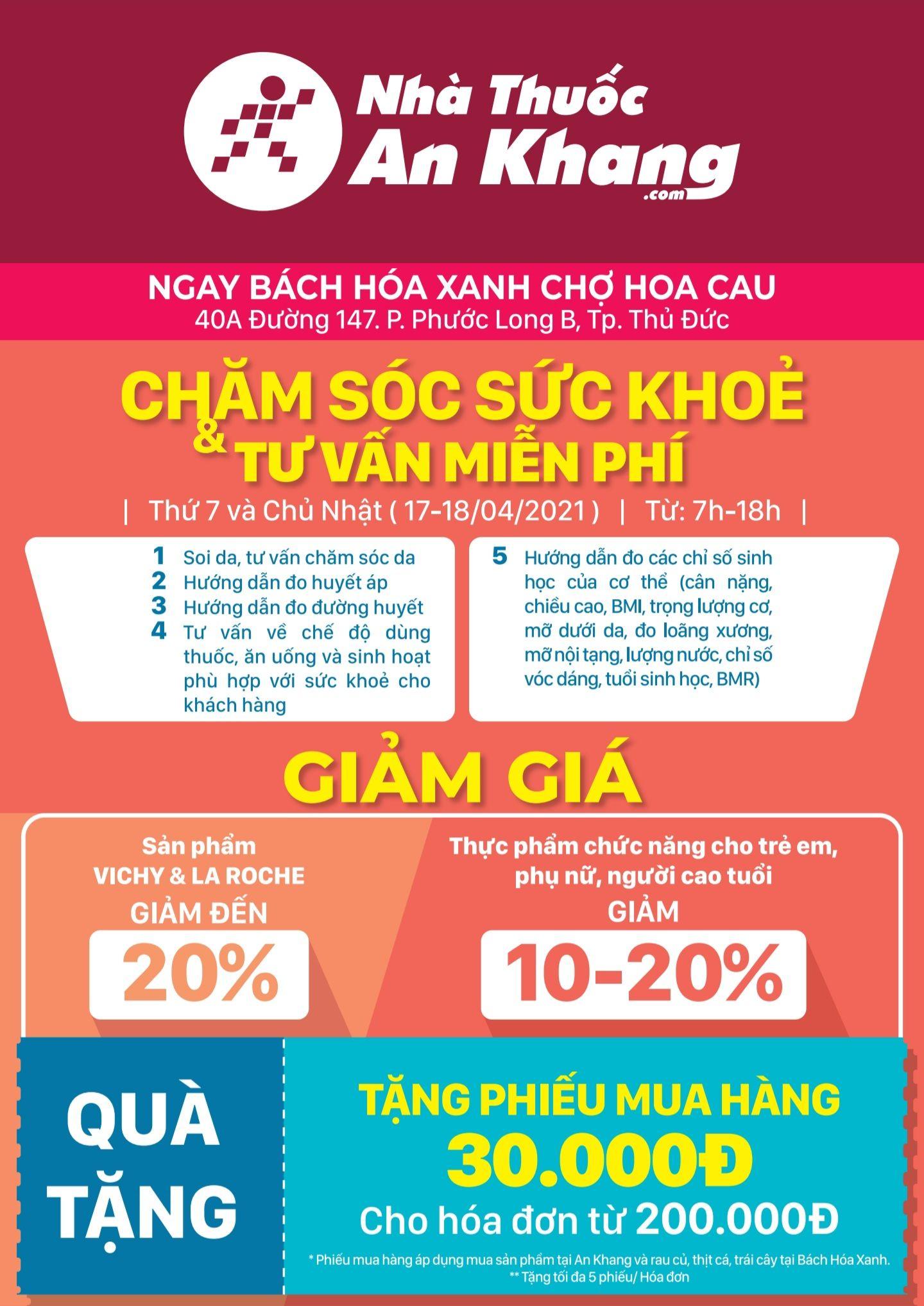 Nhà thuốc An Khang tổ chức chương trình chăm sóc sức khỏe và tư vấn miễn phí
