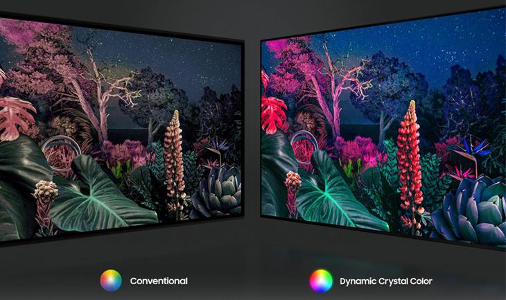 Các công nghệ hình ảnh nổi bật tivi Samsung 2021 - Dynamic Crystal Color