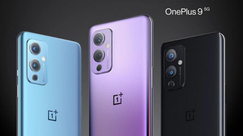 OnePlus 9 có 3 tùy chọn màu sắc là xanh dương, hồng và đen. (Nguồn: OnePlus).