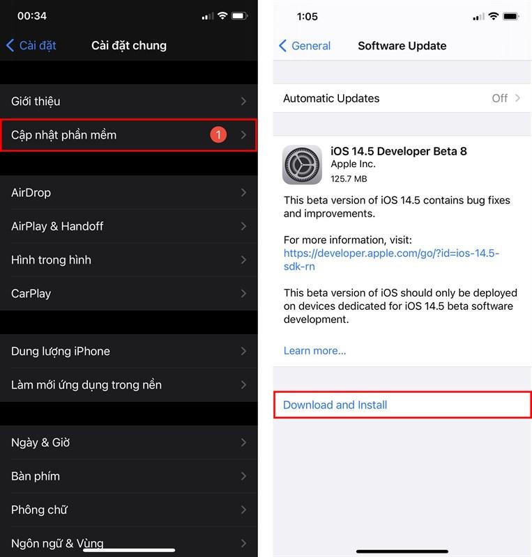 Hướng dẫn cập nhật iOS 14.5 Beta 8 trên các dòng sản phẩm Apple