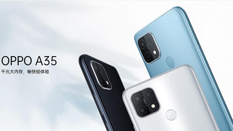 Smartphone giá rẻ OPPO A35 ra mắt: Chip Helio P35, 3 camera sau, pin 4.230mAh và chạy Android 11