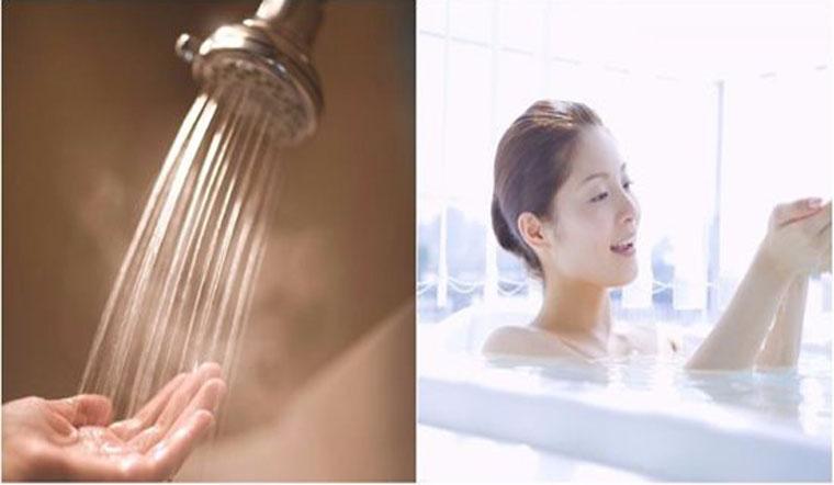 Hạn chế tắm bằng nước nóng