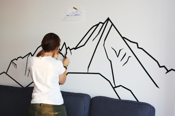 Trang trí tường bằng băng dính Washi
