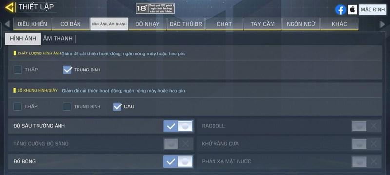 Configure settings of Call Of Duty
