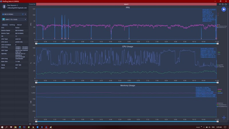 FPS fluctuation when playing Wildrif on Xiaomi Mi 11 Lite